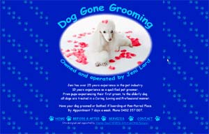 Web site by Stephen Powell Dog Gone Grooming