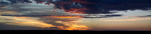 Stephen Powell Wildlife Artist photo of Sunset at Mungo National Park NSW Australia. Merged from 6 images.