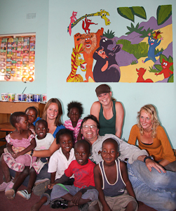 Photo by Stephen Powell Wildlife Artist Photographer Paints mural in Preschool South Africa