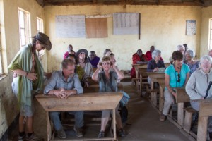 Maasai village, School. Photo by Stephen Powell Wildlife Artist