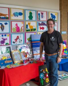 Upwey South Primary School Art Show 2013. Stephen Powell Wildlife Artist